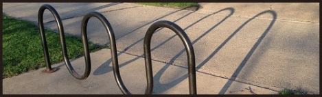 Gray_bike rack and shaddow