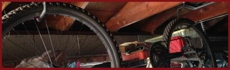 red_hanging bike